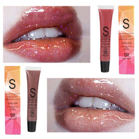 Glitter Liquid Lipstick Long Lasting Waterproof Moisturizing Candy Color Lip Gloss
