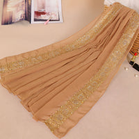women muslim lace bubble chiffon hijab scarf foulard femme musulman islamic head scarves arab headwear