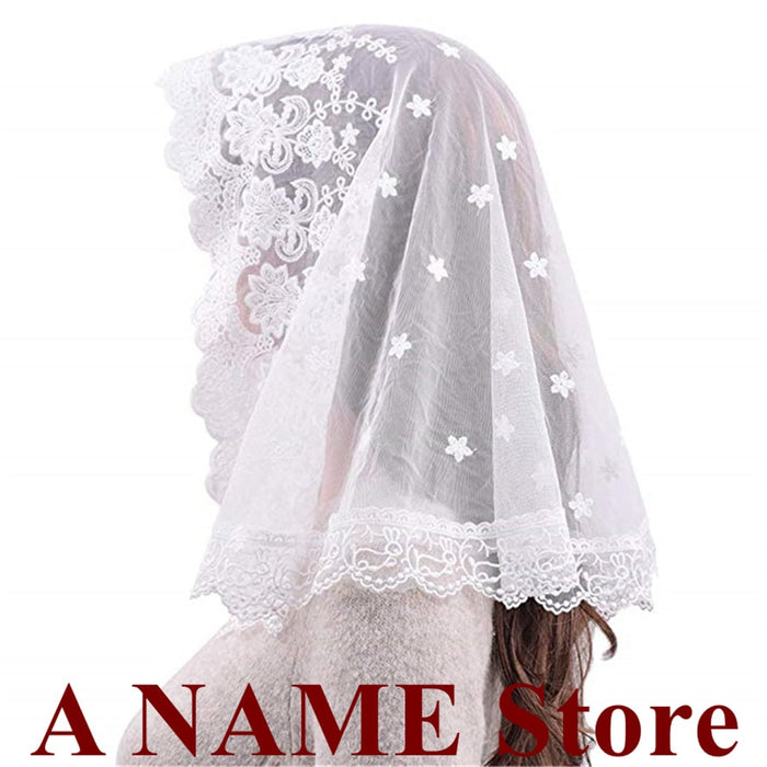2019 Black white Lace Veil Mantilla for Church Head Covering Catholic Latin Mass mantilla negras vela negra Voile Noir Dentelle