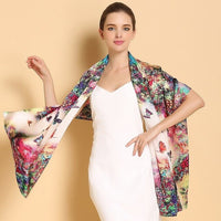 New style Women summer printing 100% silk Long scarf rectangle Suit Accessories Women's Scarves & Wraps