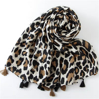 2019 Fashion Women Leopard Print Scarf 180*90cm Leopard Stole Thin Cotton Warm Large Shawls and wraps foulard femme cachecol