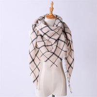 10pcs/lot Classic Winter Triangle Scarf for Women Designer Shawl Cashmere Plaid Scarves Blanket 140*140*200cm 20 Style