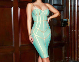 New Summer Bodycon Bandage Dress Women Evening Party Dress