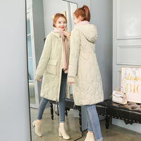 Autumn Winter Women  Fashion Down long hoodie down Parkas Cotton warm Jackets