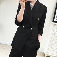 Top Quality New Fashion 2019 Designer Blazer Jacket Women's Double Breasted
