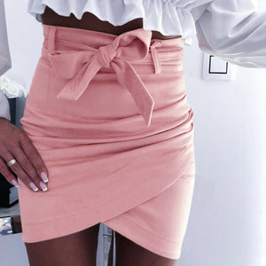 Women's Summer Irregular Pencil Bodycon Short Slim Mini Skirt Evening Party Beach Sarong Bikini Cover Up Girls Sexy Females Sets