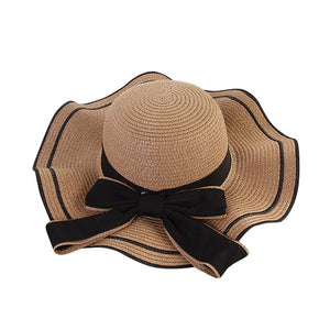 New 2019 Hot Sale Raffia Wide Brim Straw Hats Summer Sun Hats for Women With Leisure Beach Hats Lady Flat Gorras*1