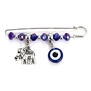 Evil Eye Brooch Safety Silver Color Pin Metal Letter Animal Pendant Evil Eye Brooch for Women Men Jewelry accessory EY5269 1pcs