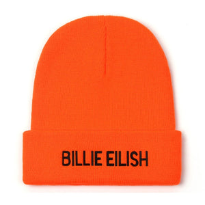 Women Winter Hat Knitted Embroidery Billie Eilish Hat Women Men Casual Solid Cotton Hip-hop Beanies Hats For Women Bonnet 2019