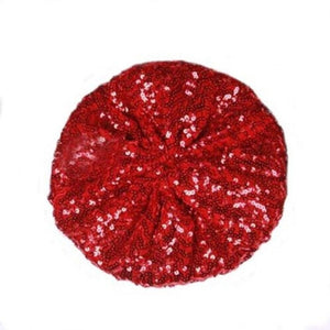 Ladies Girls Sequins Shinny Beret Hat Party Dance Disco Caps For 5 Colors