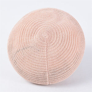 New 11 Colors Spring Summer Women Knit Berets Ladies Solid Flat Cap Fashion Crochet French Caps Stars Painter Hat
