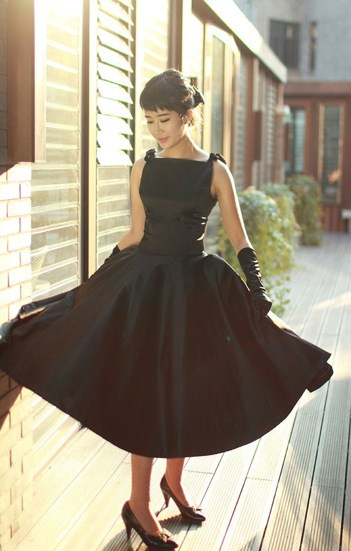LBD little black dress 50/60s Rockabilly audrey hepburn dress elegant