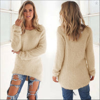 Fashion Women Long Sleeve Knitted Pullover Loose Sweater Jumper Tops Knitwear