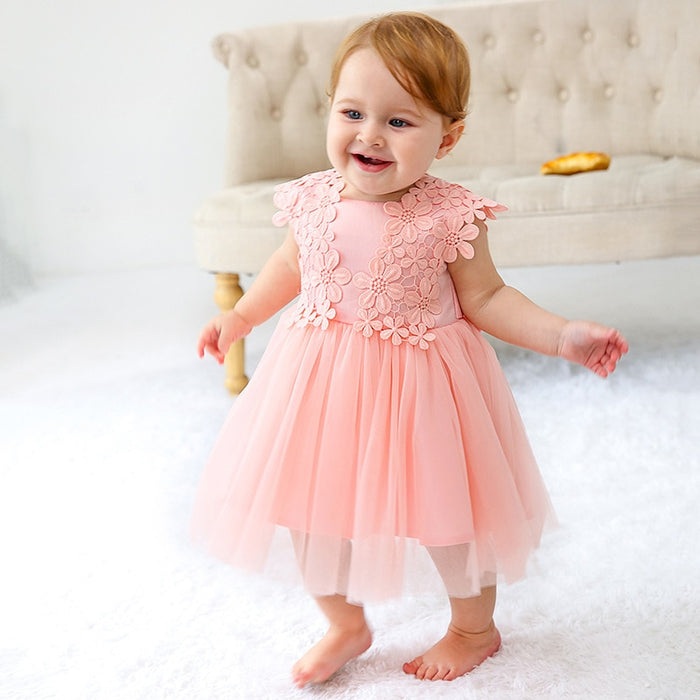 New Baby Girls Dress 0-24M 1 Years Baby Girls Birthday Dresses for infant Lace Vestido birthday party princess dress