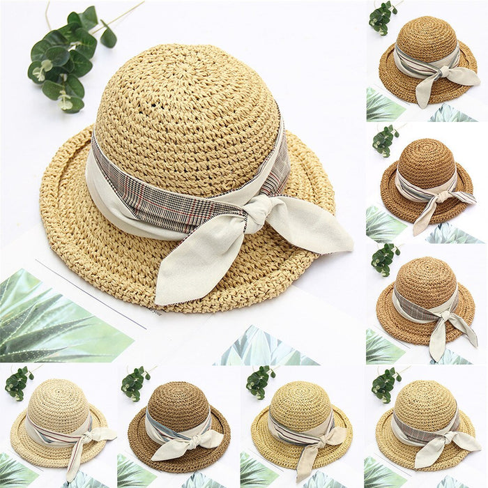 2019 Women hats Womens Floppy Summer Sun Beach Straw Hat UPF50 Foldable Wide Brim Hat Caps