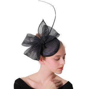 navy Fascinators hats for kentucky derby party Occasion hair clips church hats wedding hair accessories New arrival or 17 colors