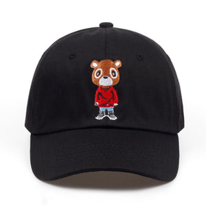 Kanye West Bear Dad Hat Fashion Summer Dad Hat Men Women Baseball Cap Snapback Unisex Hip Hop Hot Style Hats