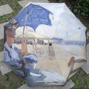 Artistic and Crafts Umbrella Painting Umbrella Sunscreen Umbrella with women Monete Truville Beach parasol
