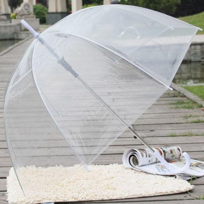 Fashion Transparent Clear Bubble Dome Shape Umbrella Outdoor Windproof Umbrellas Princess Weeding Decoration
