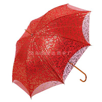 Hot selling Flouncing Folding Lotus Leaves Princess Dome Parasol Waterproof Sun/Rain Umbrella For Women