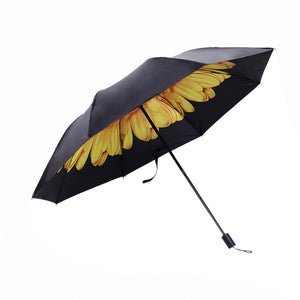 Rain Women Men Dual Sun Umbrella Folding Sunscreen UV Umbrella