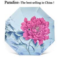 Brand Sun Umbrella Rain Women Folding Modish Quality Flower Portable Clear Umbrellas