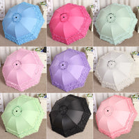 Lovely Lace Princess Umbrella Fashion Women Creative Arched Sun Umbrella Parasol for Student girl