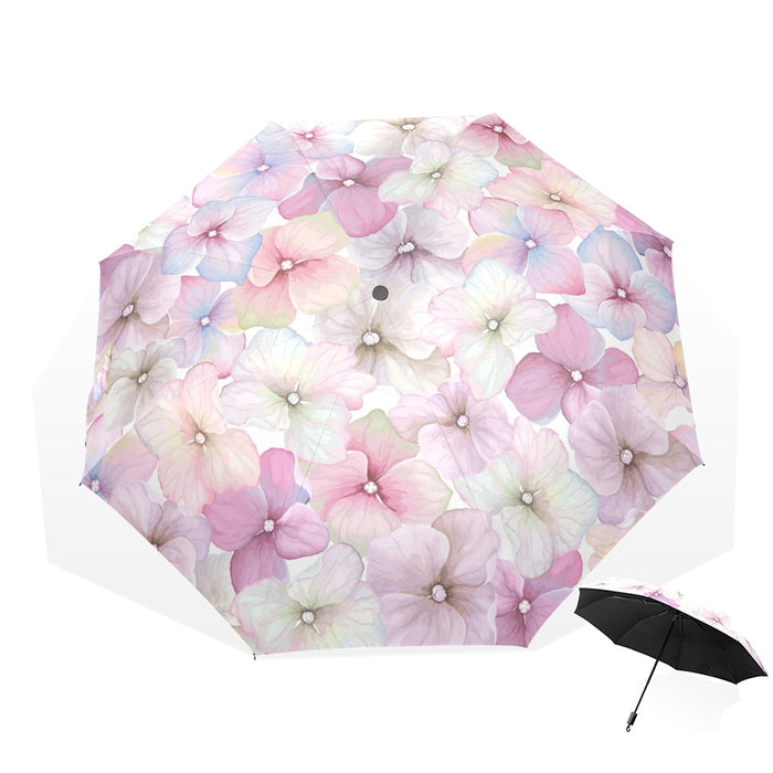 Sunny And Rainny Umbrella For Women Windproof Non-Automatic Parasol Flower Petal Folding Umbrellas