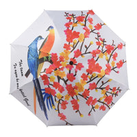 Creative Personality Women Rain Umbrella Painting Parasol Windproof Anti-UV Folding Umbrella