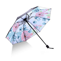 Fresh Flower Black Coating Umbrella For Women Anti-UV Sunscreen Parasol Creative Windproof Dual-use Sunny And Rain Umbrellas