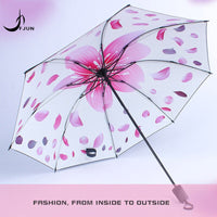 New beautiful flower Sun Umbrella Women Parasol Lady Paraguas Plegable Para Autos Mujer Guarda Sol Parapluie sunscreen umbrellas