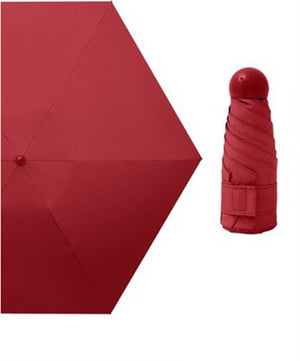 Foldable Compact Mini Pocket Umbrellas Waterproof Anti-UV Rain Sun Travel Umbrellas For Women Men Kids with Cute Capsule Case