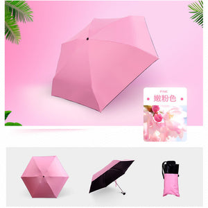 Fashion Portable Men's Umbrella Mini Capsule Pocket UV Protection Rain Folding Women Compact Small Capsule Umbrellas Sale