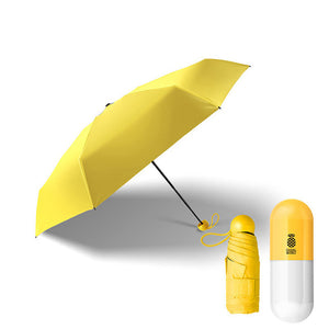 Fashion Portable Mini Capsule Pocket UV Protection Rain Folding Ms. Compact Small Capsule Umbrellas Women's Umbrella Parasol D