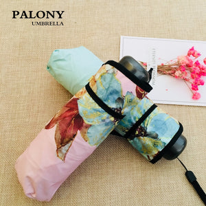 Pocket Design MINI Umbrella Rain Women Small Sun/Rain Women's Sunshine Five Folding Umbrellas Compact Umbrella 50Ry128