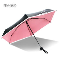 5-Folding High Quality Mini Pocket Umbrella Clear Umbrella Windproof Folding Umbrellas Women Compact Rainy Sunny Umbrella 5Color