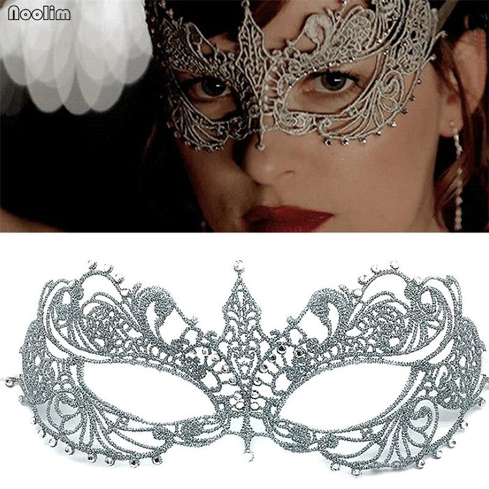 1PC Women Sexy Lace Eye Mask Party Masks For Masquerade Halloween Lace Mask Cutout Prom Fancy Dress Party Decor Accessories