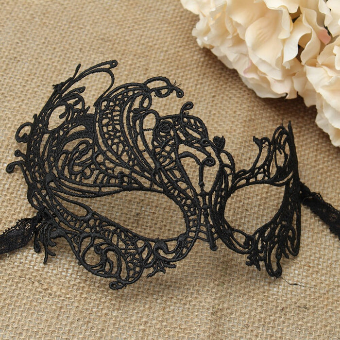 Sexy Womens Floral Lace Embroidery Openwork Half Face Eye Mask For Halloween Prom Party Masquerade Ball Fancy Costume Dress