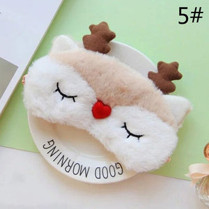 1Pcs Cute 3D Sleep Mask Natural Sleeping Eye Mask Eyeshade Cover Shade Eye Patch Women Soft Portable Blindfold Travel Eyepatch