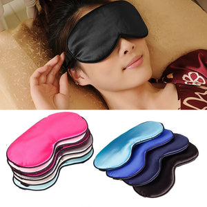 1Pc Pure Silk Sleep Natural Sleeping Eye Mask Eye shade Cover Shade Eye Patch Women Men Soft Portable Blindfold Travel Eye patch