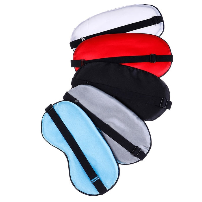 Soft Silk Travel Eyepatch Sleep Mask Natural Sleeping Eye Mask Eyeshade Cover Shade Eye Patch Women Men