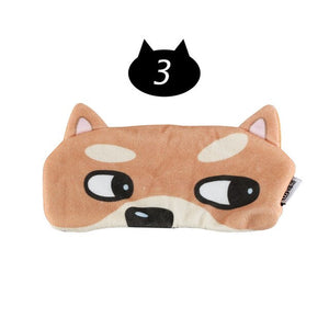 1PC Portable 3D Cute Soft Sleeping Face Eye Mask For Women&Men Blindfold EyeShade Cover Relax Traveling Sleep Eye Aid Eye Patch
