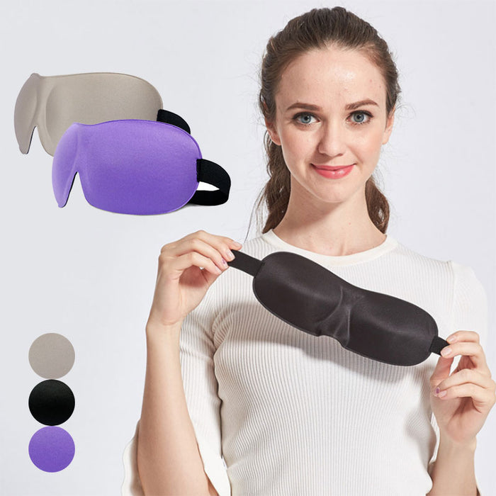 Travel 3D Eye Mask Sleep Soft Padded Shade Cover Rest Relax Sleeping Blindfold For Women  88 WH998