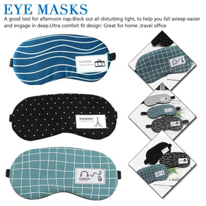 Party Eye Shade Cover Blindfold Unisex Women Men Cotton Soft Eye Aid Sleep Mask with Comfortable Ice Compress Gel Travel Rest