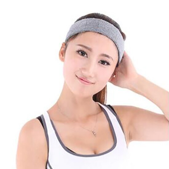 8 Colors Sport Sweatband Yoga Cotton Stretch Women Head Hair Band Gym Stretchy Sport Men Headband for Outdoor Training Scarf