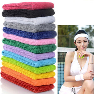 High Quality Women Men Sport Sweat Sweatband Headband Yoga Gym Stretch head band sport Hair Band headband sport
