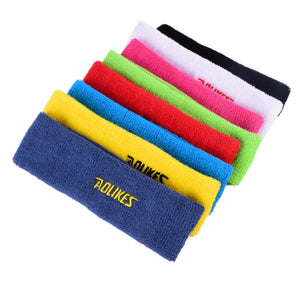 AOLIKES Yoga Hair Bands Cotton Sweat Headband For Men Sweatband Women Head Sweat Bands Sports Safety