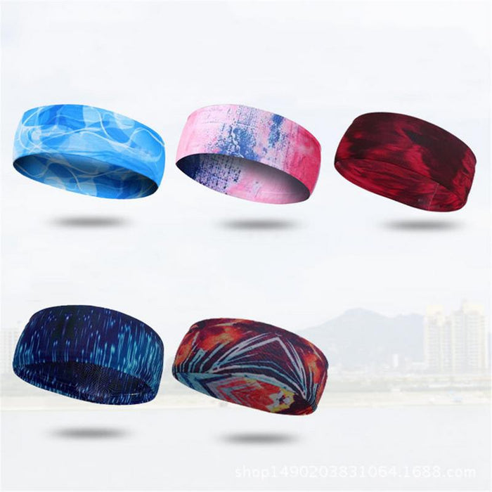 1Pcs Elastic Head Sweatband Soft Silicone Running Yoga Sweat Band For Men Women Fitness Basketball Tennis Headband