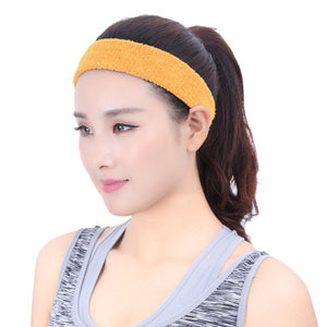 1PC Headband Women Men Cotton Sweat Sweatband Anti-slip Fitness Hairband Yoga Gym Stretch Head Band For Fitness Working Out