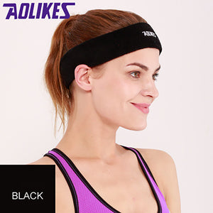 2019 High Quality Men Women Sport Running Solid Hair Head Sweat Band Cotton Sweatband High Elastic Multi-color Sports headband